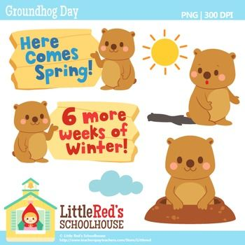 Clip Art: Groundhog Day - Cute Free Clip-Clip Art: Groundhog Day - Cute free clipart set FREE | Little Redu0026#39;s FREE Printables | Pinterest | Groundhog day, Clip art and Art-19