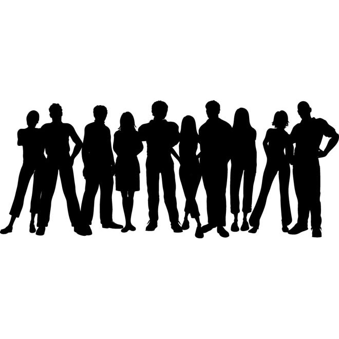 Clip Art Group Of Students Clipart