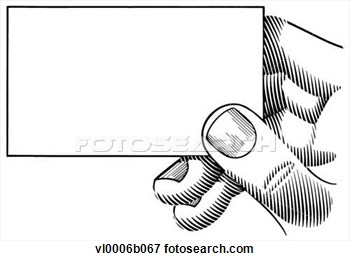 Clip Art Hand Holding Business Card Foto-Clip Art Hand Holding Business Card Fotosearch Search Clipart-9
