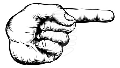 Clip art: Hand pointing finger