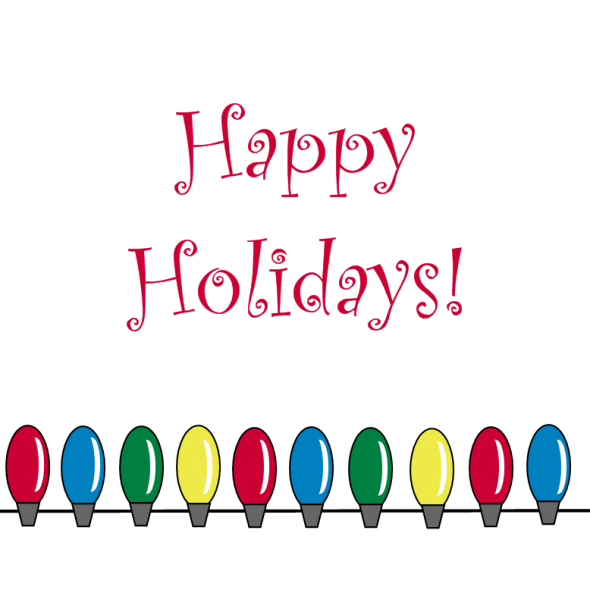Clip Art Happy Holidays With Icons Happy Holiday Cilp Art For Happy