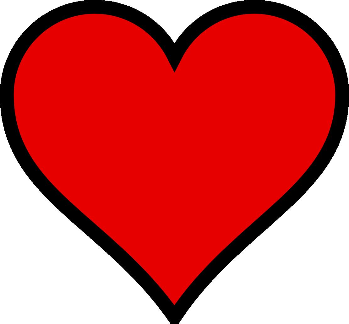 Clip Art Heart Black And White