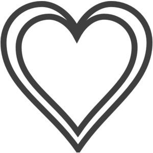 Clip Art; Heart Outline .-Clip Art; Heart Outline .-10