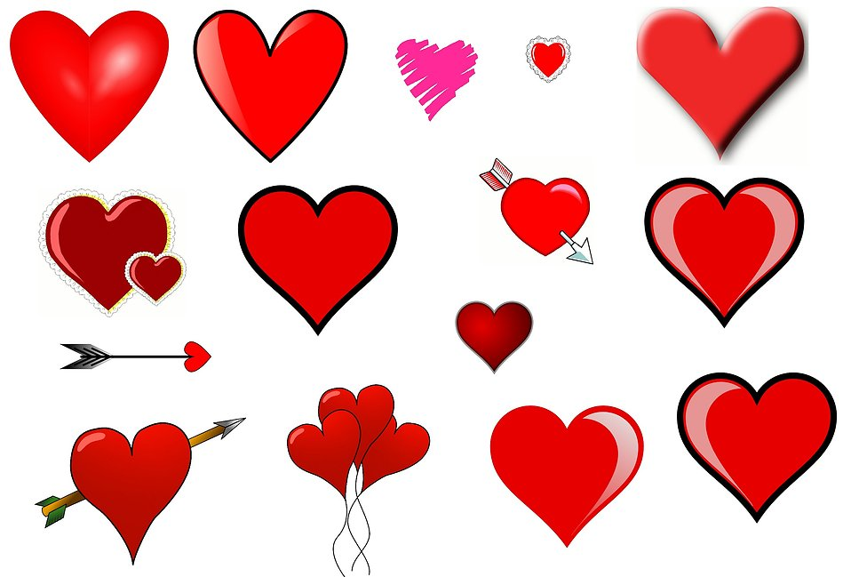Clip art hearts : Free Stock .