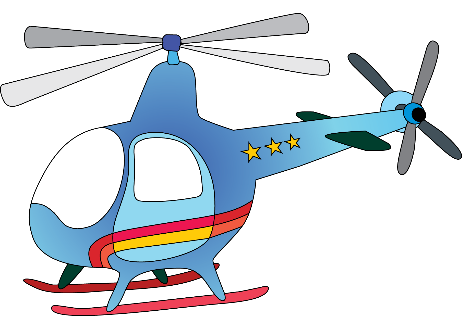 Clipart Helicopter