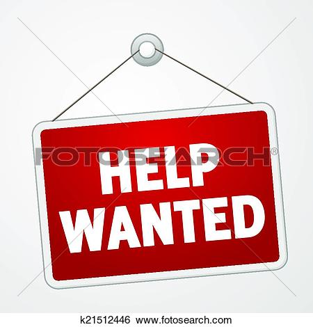 Clip Art - Help Wanted Sign. Fotosearch - Search Clipart, Illustration Posters, Drawings