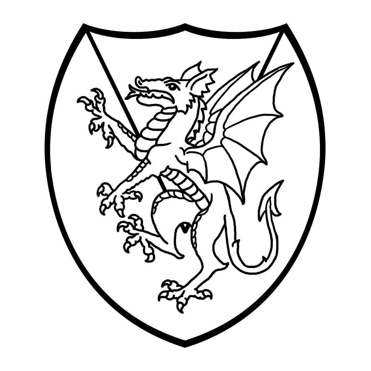 Clip Art: Heraldry: Dragon .-Clip Art: Heraldry: Dragon .-4