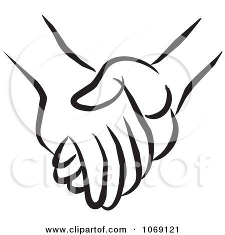 Clip Art Holding Hands Backwa - Holding Hands Clip Art