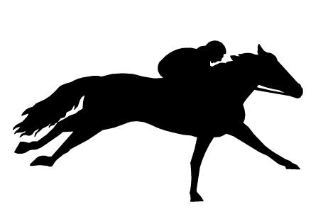 clip art horse race