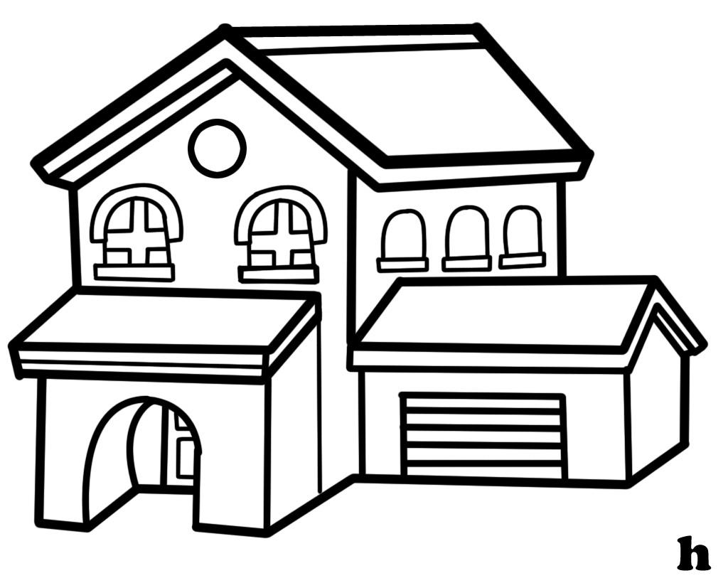 Clip Art House #17352-Clip Art House #17352-7
