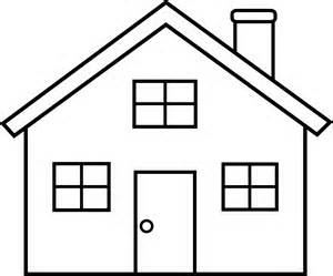 Clip Art House Black And ..