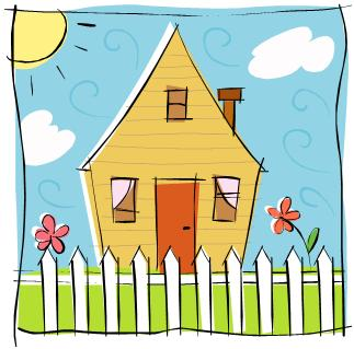 Clip art house taking the world on with -Clip art house taking the world on with a smile-10
