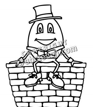 Clip Art: Humpty Dumpty Bu0026amp;W