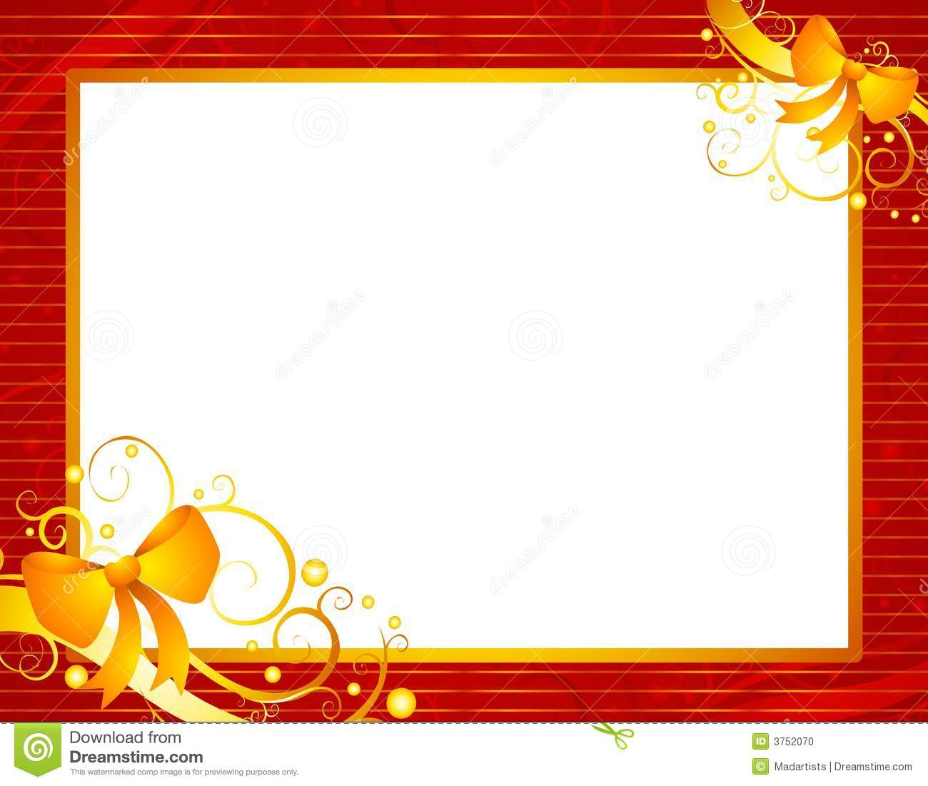 Clip Art Illustration Featuring A Red St-Clip Art Illustration Featuring A Red Striped Frame With Gold-14