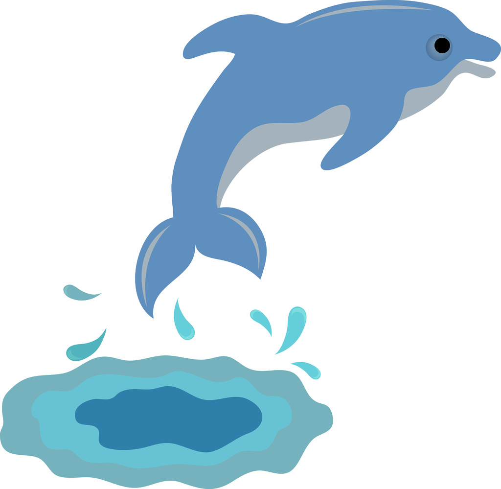 Clip Art Illustration Of A Cute Dolphin -Clip Art Illustration Of A Cute Dolphin A Photo On Flickriver-0