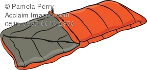 Clip Art Illustration of a Quilted Sleep-Clip Art Illustration of a Quilted Sleeping Bag-17