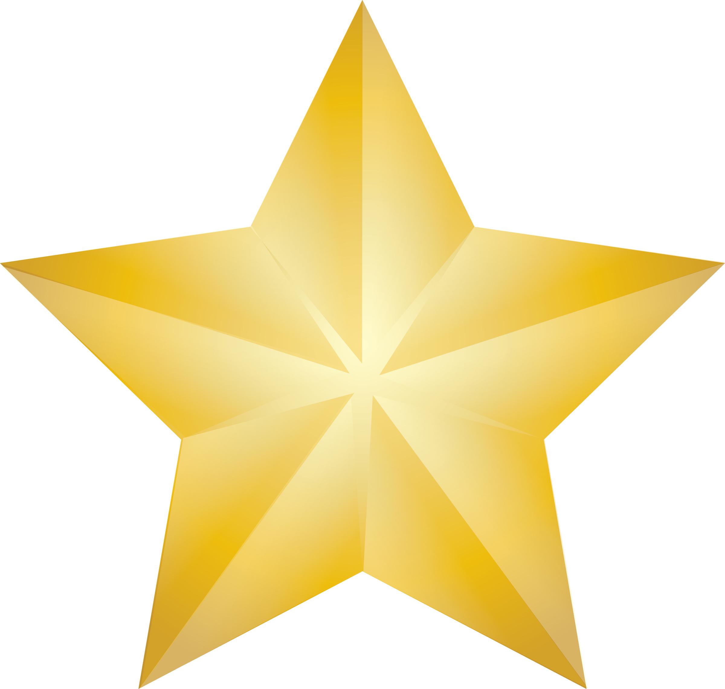Clip Art Illustration Of A Shining Gold Christmas Star St Paul S