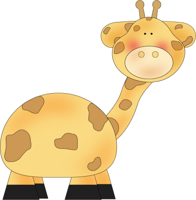 Clip Art Image Of A Cute Giraffe Great For Kids Or Baby Projects