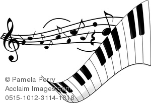 Clip Art Image of a Piano .-Clip Art Image of a Piano .-15