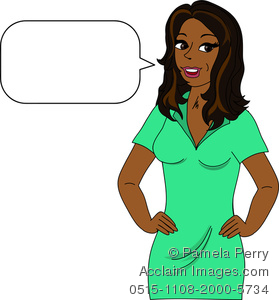 Clip Art Image Of An African .