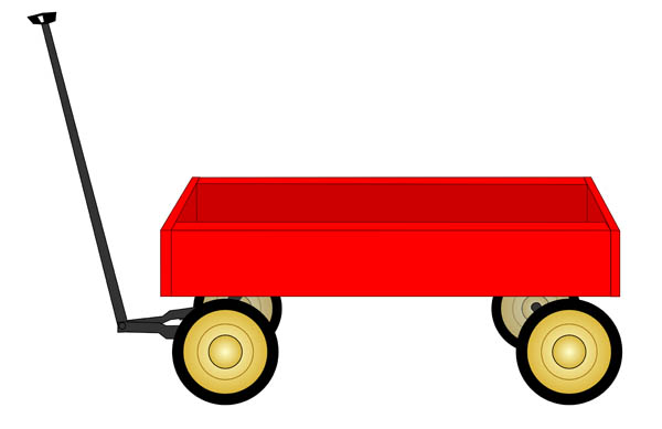 Clip Art Image Of An Old Styled Little R-Clip Art Image Of An Old Styled Little Red Wagon-1