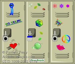 Clip Art Image Of Student School Lockers-Clip Art Image of Student School Lockers-2