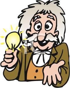 Clip Art Image: Thomas Edison With A Lig-Clip Art Image: Thomas Edison with a Light Bulb-2