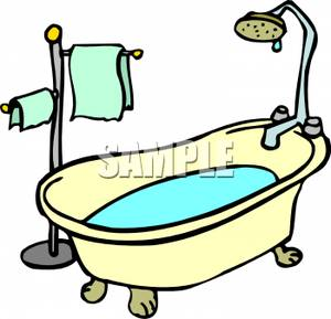 Clip Art Image Water In A Bathtub