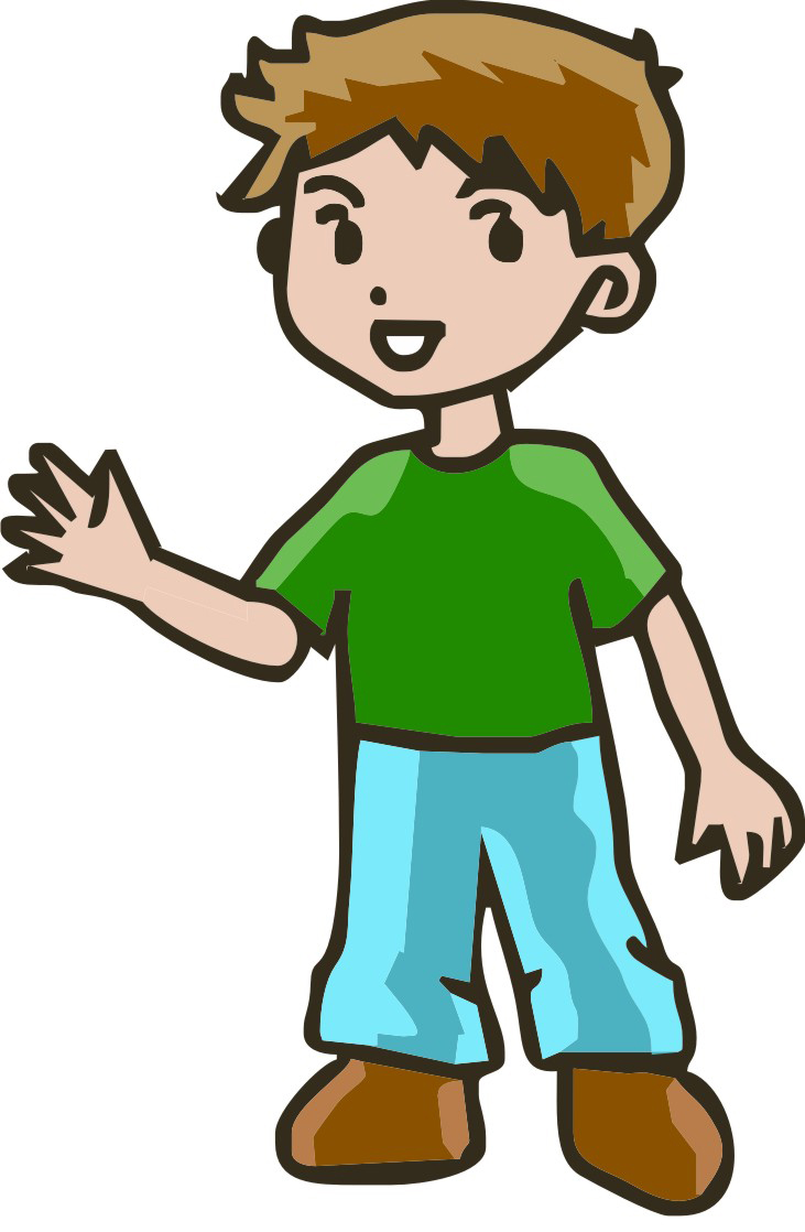 Clip art images of strong boy - Kid Clipart