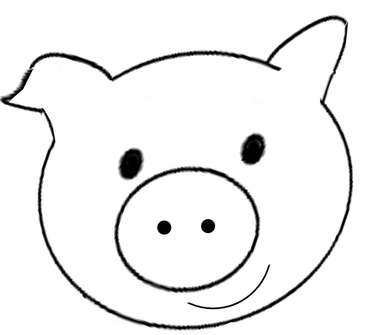 Clip Art Info - Pig Face Clipart