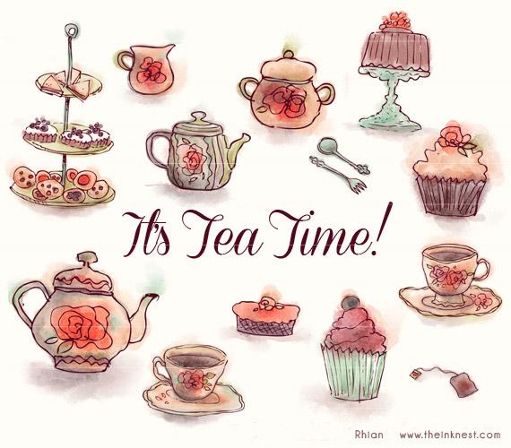 Clip Art It S Tea Time For Commercial An-Clip Art It S Tea Time For Commercial And Personal Use-14