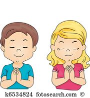 Clip Art. Kids Praying-Clip Art. Kids Praying-3