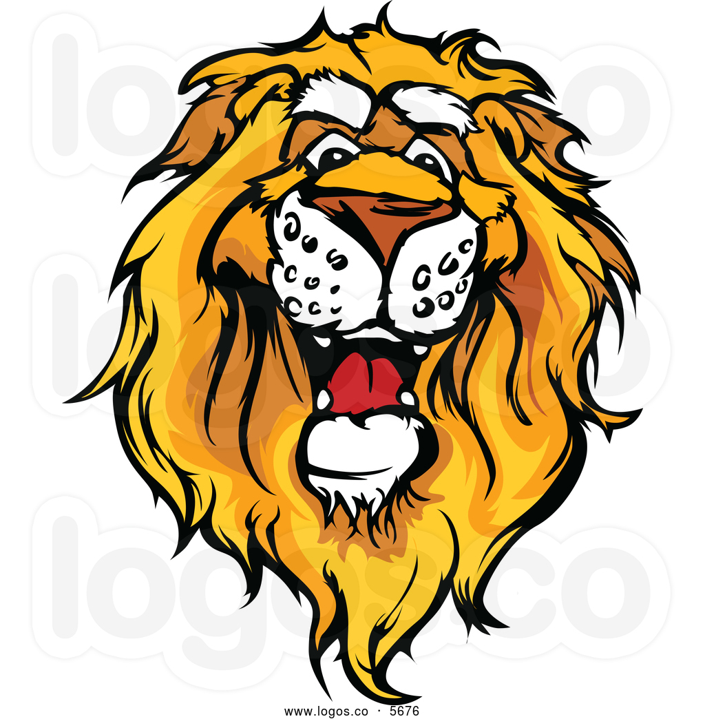 Clip art lion head