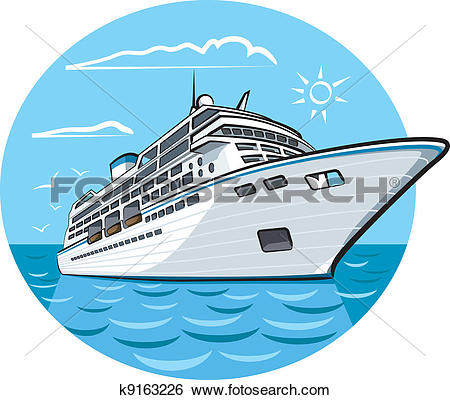 Clip Art. luxury cruise ship