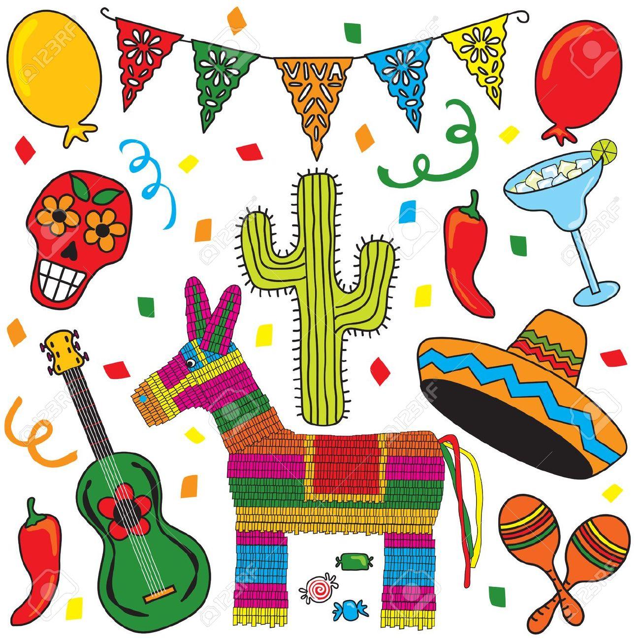 Clip art Mexican Fiesta .