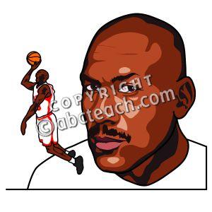 Clip Art: Michael Jordan Color .-Clip Art: Michael Jordan Color .-3