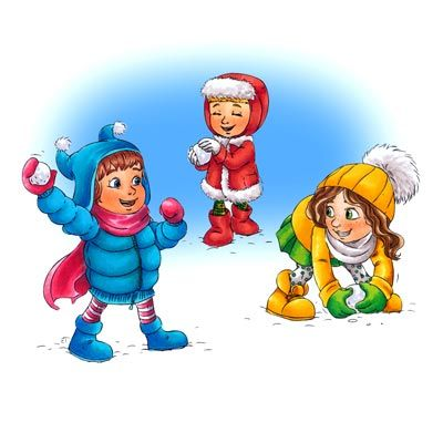 Clip art u0026middot; Snowball Fight ...