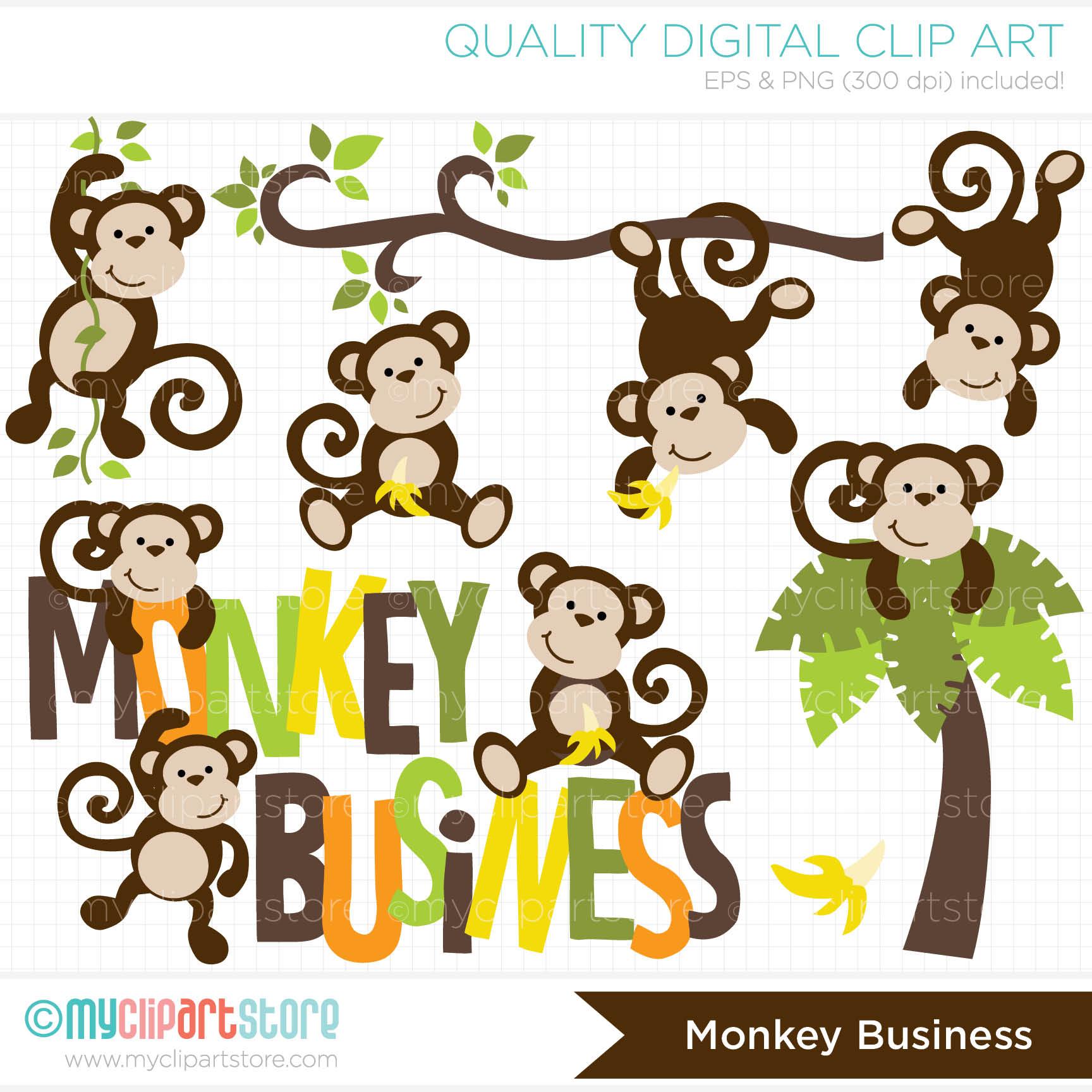 Clip Art Monkey Business Myclipartstore