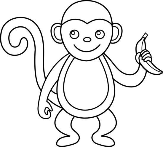 Clip Art Monkeys Black .-Clip Art Monkeys Black .-13