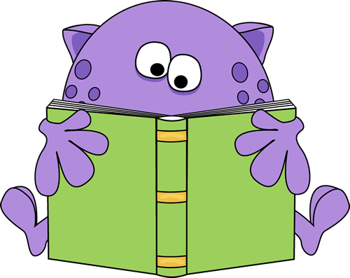 Clip Art Monster Reading | Clipart library - Free Clipart Images