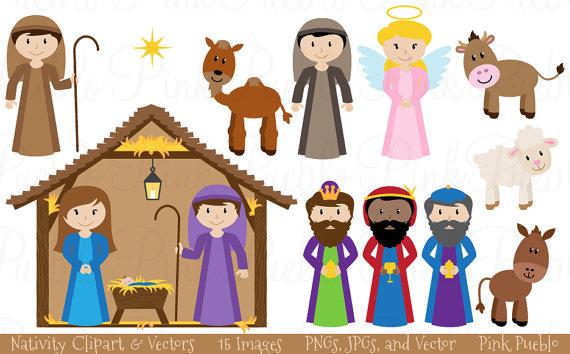 Clip Art Nativity - Getbellhop
