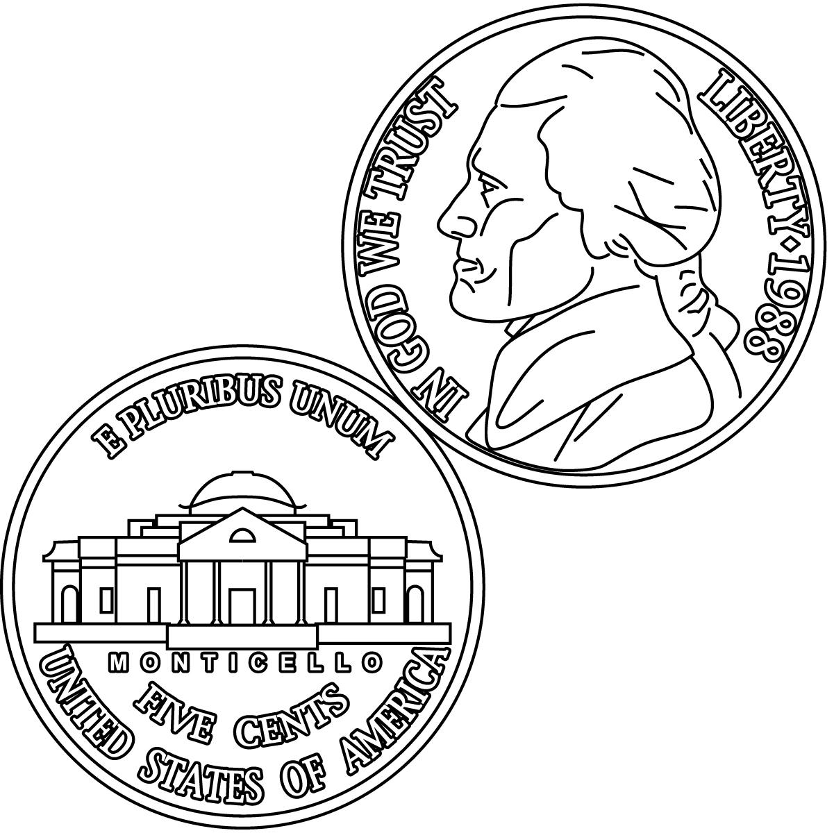 Clip Art: Nickel Bu0026amp;W