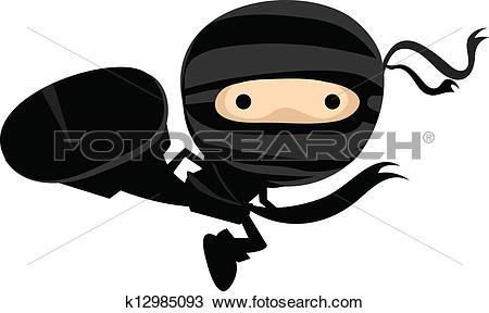 Clip Art. Ninja Kick-Clip Art. Ninja Kick-0