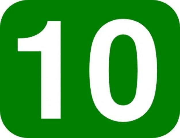 Clip Art Number 10 - Number 10 Clipart