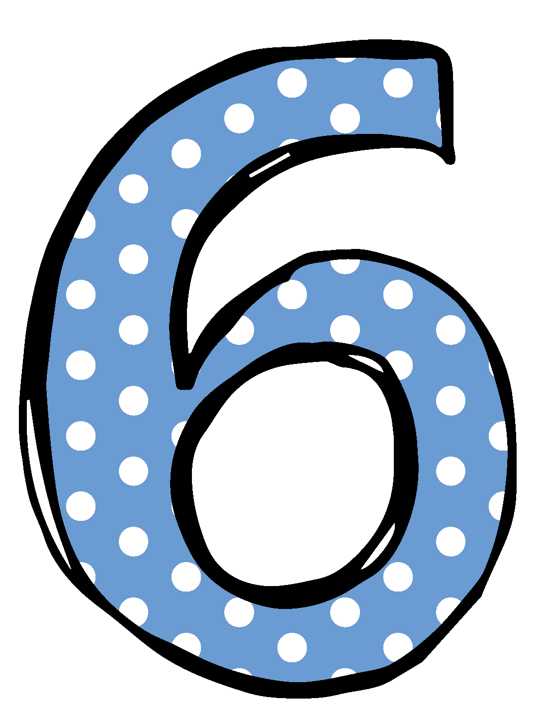 Clip Art Numbers 1 - Number 6 Clipart