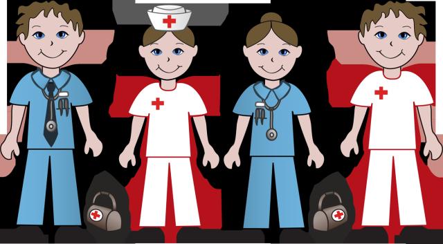 Clip Art, Nurses And Doctors .-Clip art, Nurses and Doctors .-2