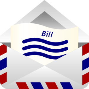 Clip Art Of A Billing Notice  - Bill Clip Art