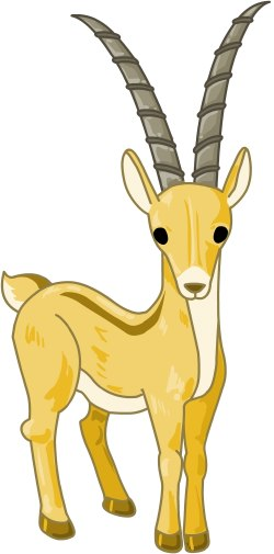 Clip Art Of A Brown African Antelope Or -Clip Art Of A Brown African Antelope Or Gazelle Or Oryx-12