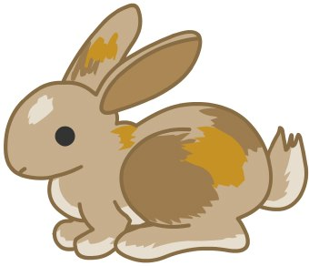 Clip Art Of A Brown Bunny Rabbit Ready T-Clip Art Of A Brown Bunny Rabbit Ready To Hop In Profile-7