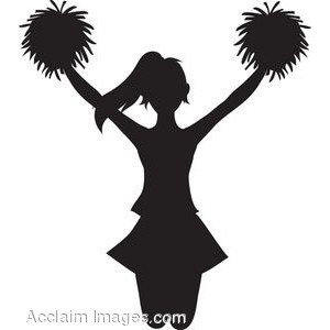 Clip Art Of A Cheerleader .-Clip Art of a Cheerleader .-14